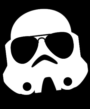 Stormtrooper with aviator shades